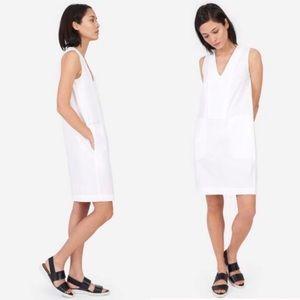Everlane The Cotton Poplin V-Neck Tank Dress